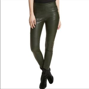 Free People Faux Leather Legging - Moss